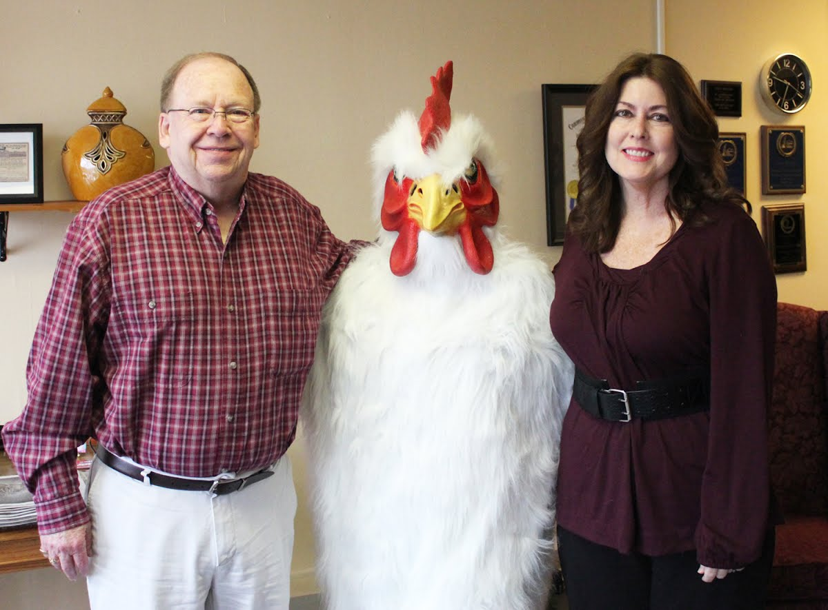 The Spring Chicken Fest Chicken visited Tommy & Gaye at The Hickman County Times